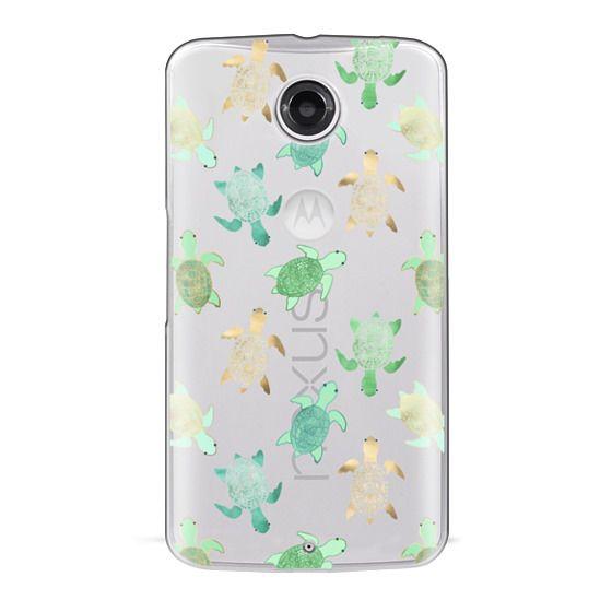 Nexus 6 Cases - Turtles on Clear II