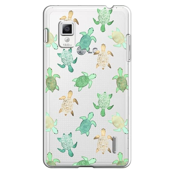 Optimus G Cases - Turtles on Clear II