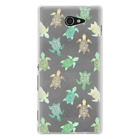 Sony M2 Cases - Turtles on Clear II