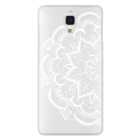Xiaomi 4 Cases - White Feather Mandala on Clear