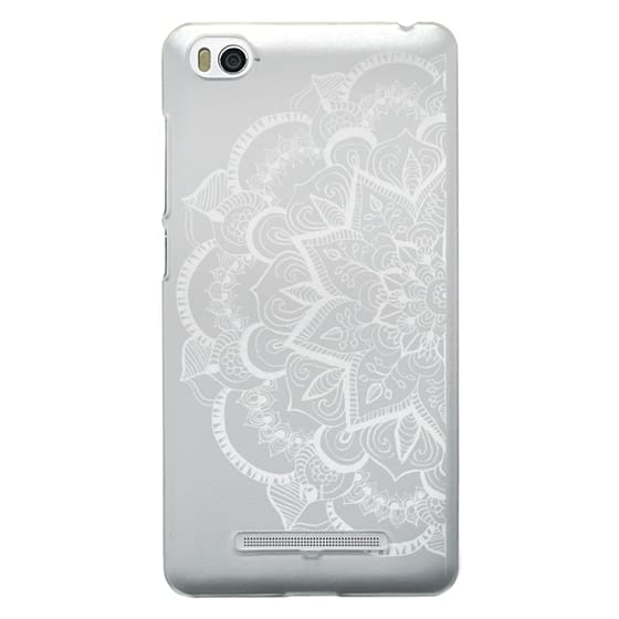 Xiaomi 4i Cases - White Feather Mandala on Clear