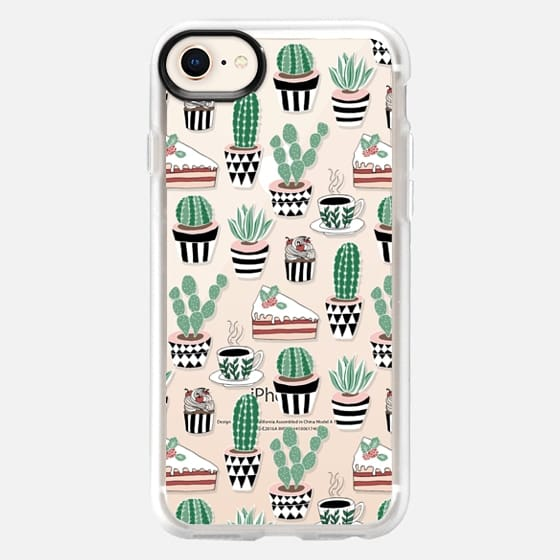 Cacti, Cake & Coffee on Clear - Snap Case