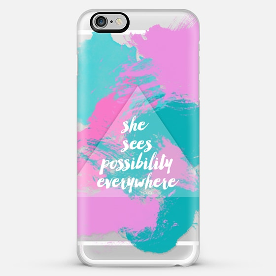 she sees possibility everywhere-transparent - Classic Snap Case