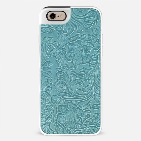 teal leather photo metal luxe -