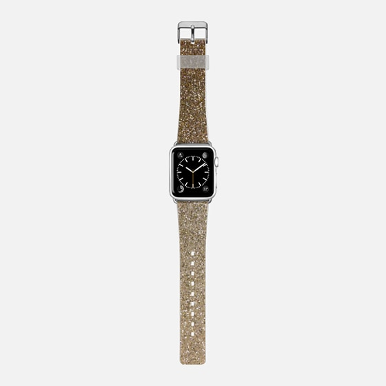 ombre gold glitter watch band -
