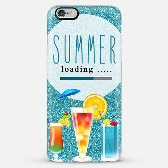 summer loading glitter - Classic Snap Case