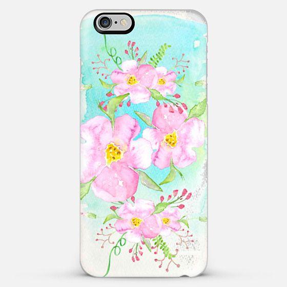 pastel watercolor flowers-transparent - Classic Snap Case