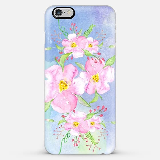watercolor flowers - Classic Snap Case