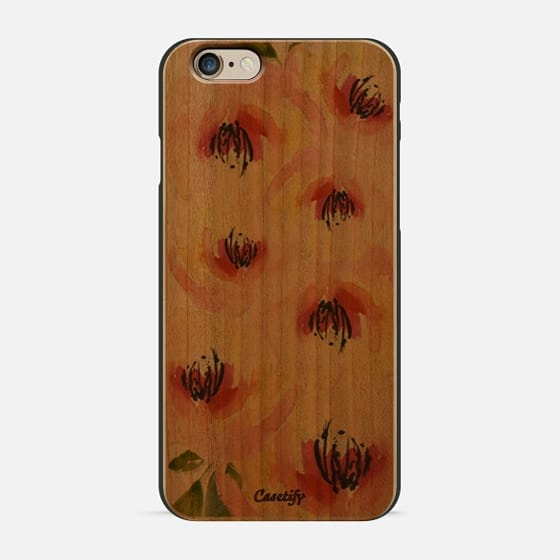 pastel flowers - Wood Case