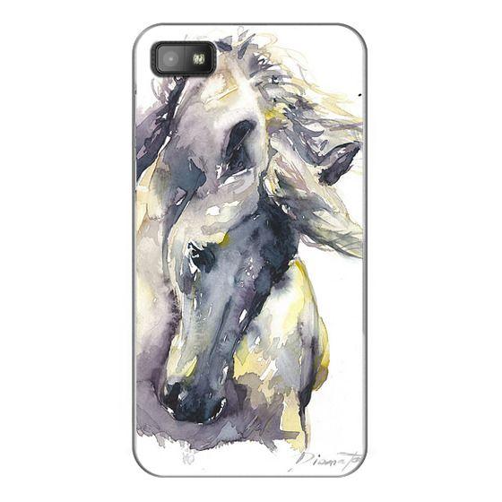 Blackberry Z10 Cases - White Horse watercolor