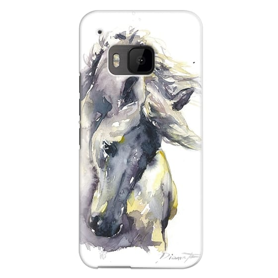 Htc One M9 Cases - White Horse watercolor