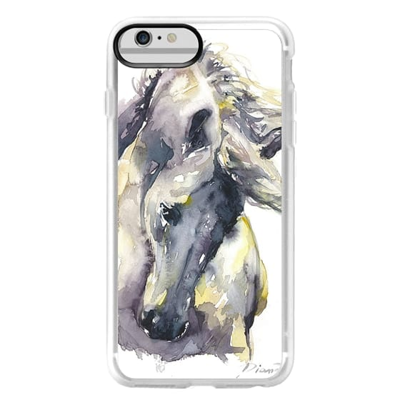 iPhone 6 Plus Cases - White Horse watercolor