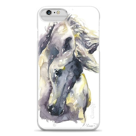iPhone 6 Plus Cases - White Horse watercolor