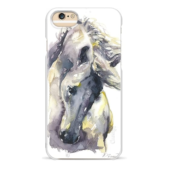 iPhone 6 Cases - White Horse watercolor