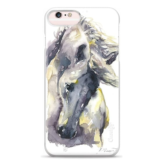 iPhone 6s Plus Cases - White Horse watercolor