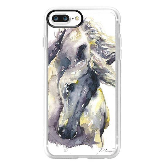 iPhone 7 Plus Cases - White Horse watercolor