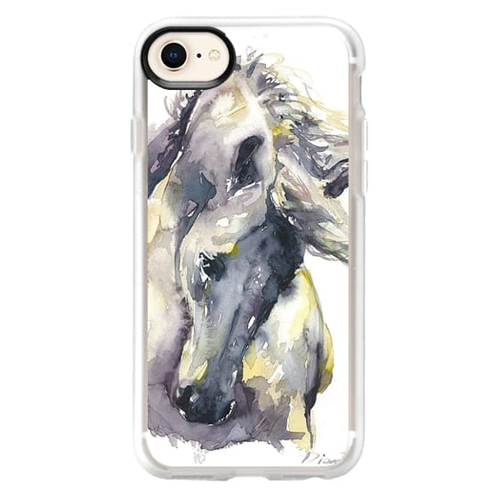 iPhone 8 Cases - White Horse watercolor