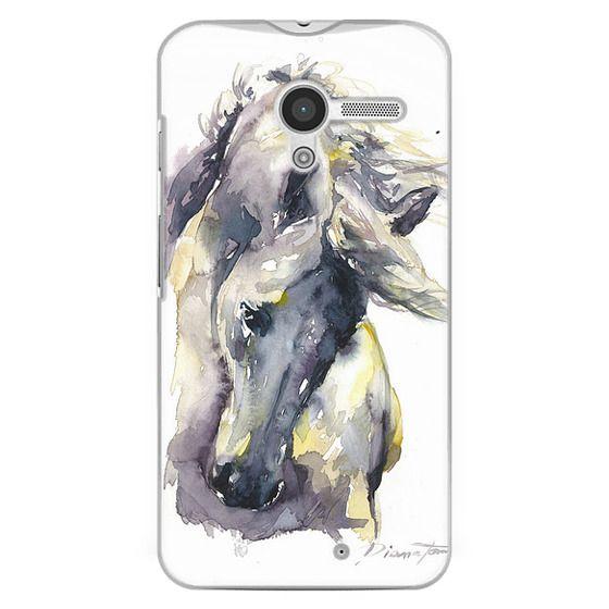 Moto X Cases - White Horse watercolor