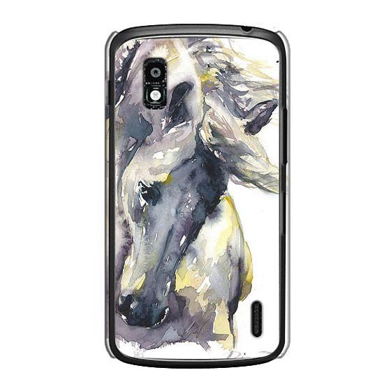 Nexus 4 Cases - White Horse watercolor