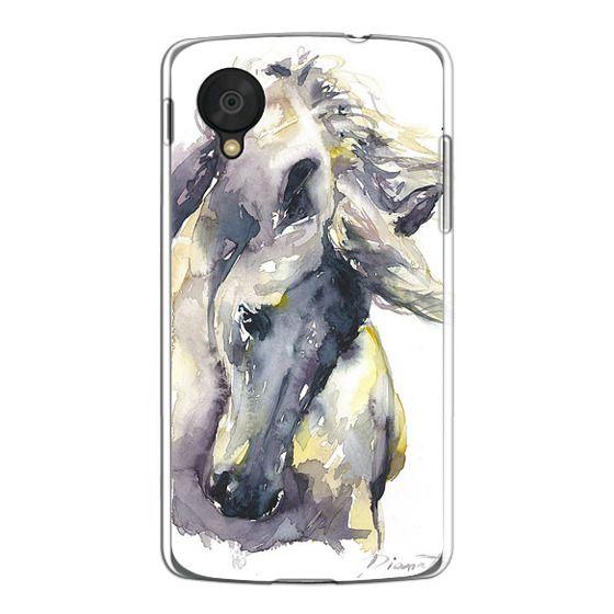 Nexus 5 Cases - White Horse watercolor