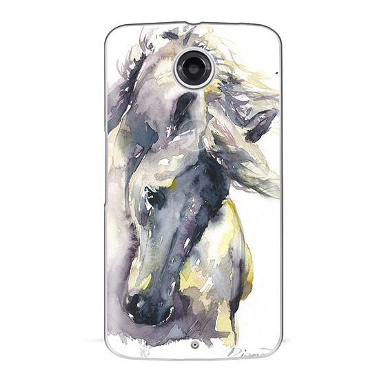 Nexus 6 Cases - White Horse watercolor