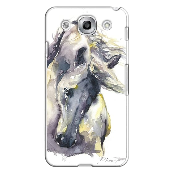 Optimus G Pro Cases - White Horse watercolor