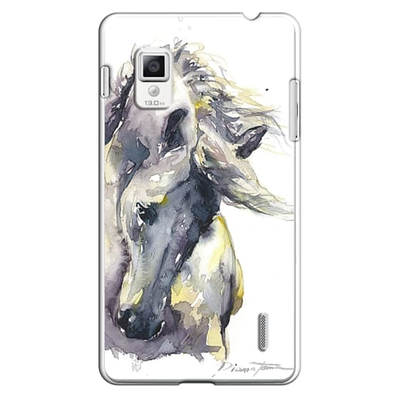 Optimus G Cases - White Horse watercolor