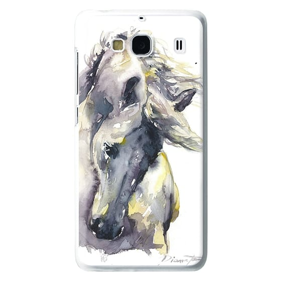 Redmi 2 Cases - White Horse watercolor