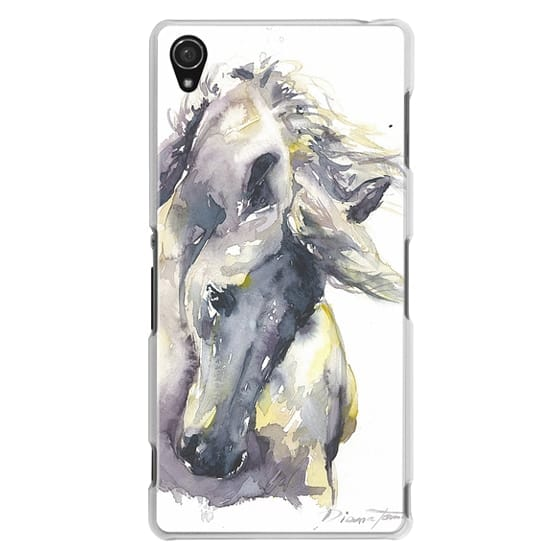 Sony Z3 Cases - White Horse watercolor
