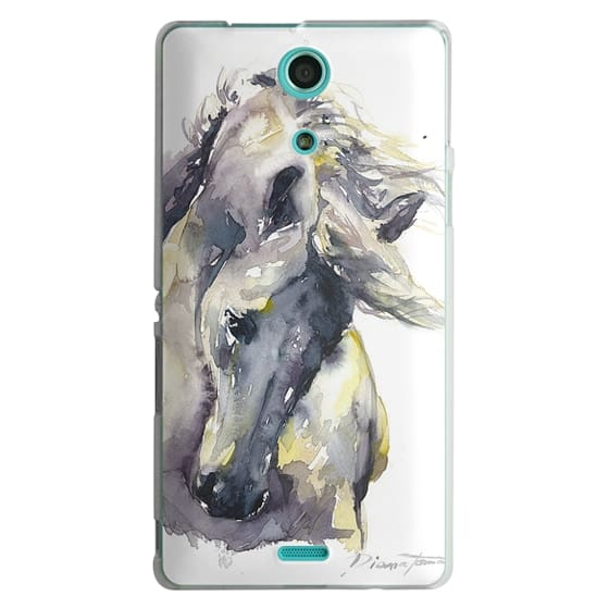 Sony Zr Cases - White Horse watercolor