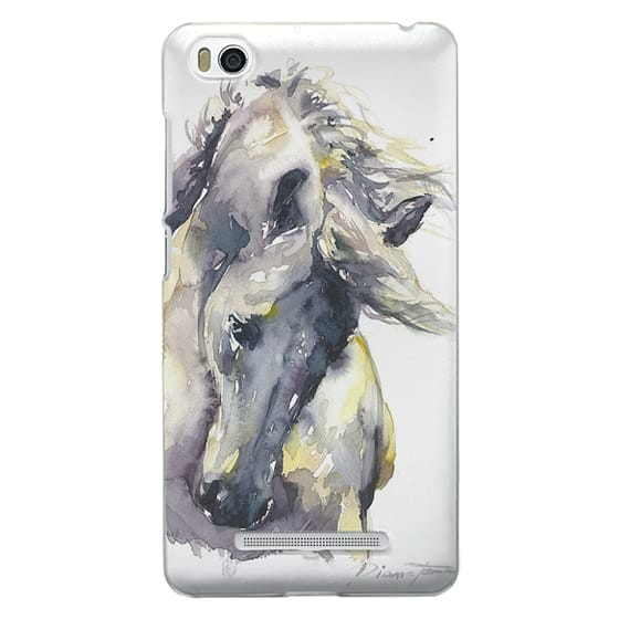 Xiaomi 4i Cases - White Horse watercolor
