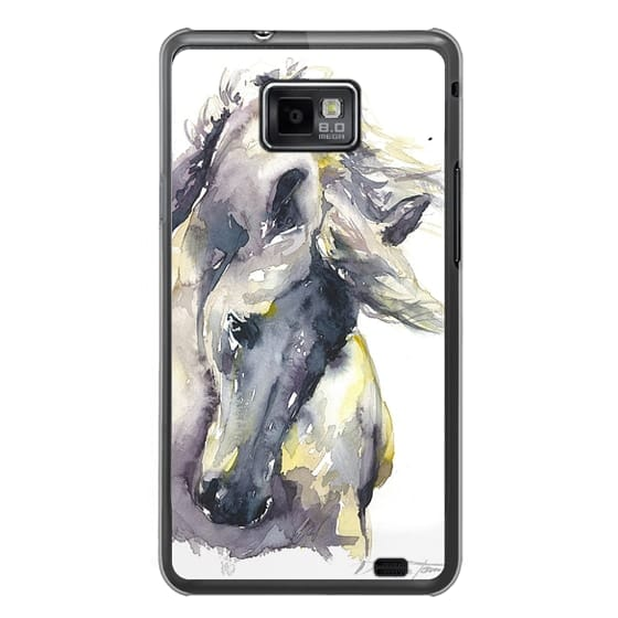 Samsung Galaxy S2 Cases - White Horse watercolor