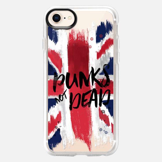 punks not dead flag - Snap Case