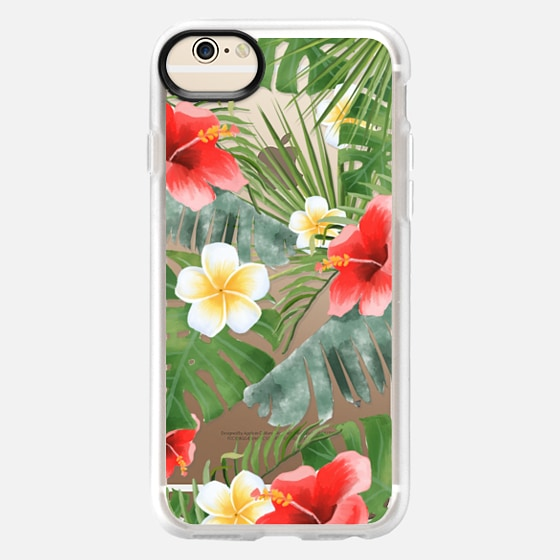 iPhone 6 Case - tropical vibe (transparent)