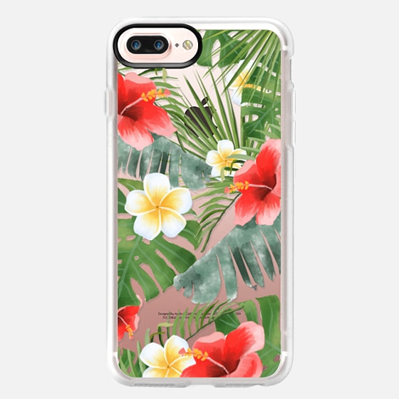 iPhone 7 Plus Case - tropical vibe (transparent)