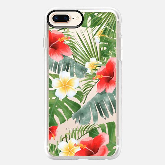 iPhone 8 Plus Case - tropical vibe (transparent)