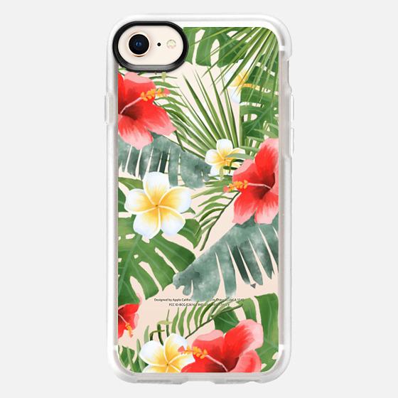 iPhone 8 케이스 - tropical vibe (transparent)