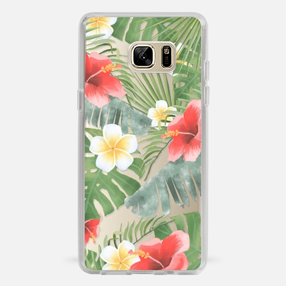 Galaxy Note 7 Capa - tropical vibe (transparent)