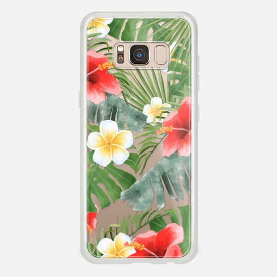 Galaxy S8 Case - tropical vibe (transparent)