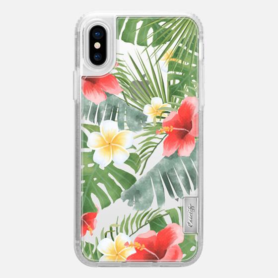 iPhone X 保護殼 - tropical vibe (transparent)
