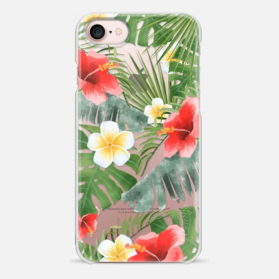 iPhone 7 ケース - tropical vibe (transparent)