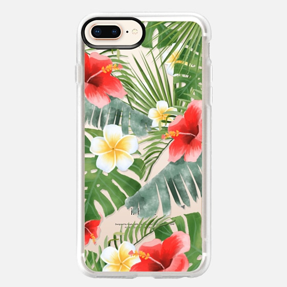 iPhone 8 Plus Hülle - tropical vibe (transparent)