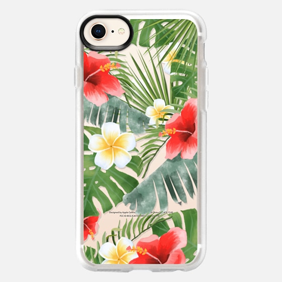 iPhone 8 Case - tropical vibe (transparent)