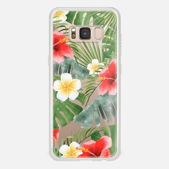 Galaxy S8 Capa - tropical vibe (transparent)