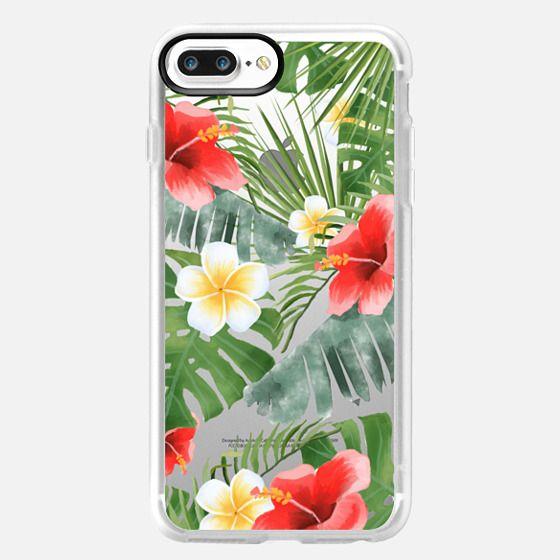 iPhone 7 Plus เคส - tropical vibe (transparent)