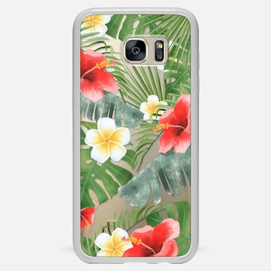 Galaxy S7 Edge Case - tropical vibe (transparent)