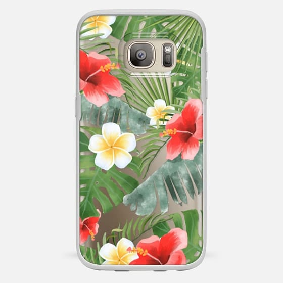 Galaxy S7 保護殼 - tropical vibe (transparent)