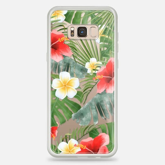 Galaxy S8+ 케이스 - tropical vibe (transparent)
