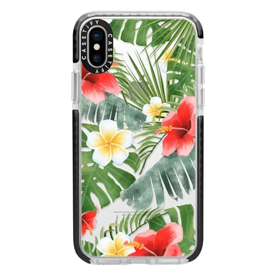 iPhone X Cases - tropical vibe (transparent)