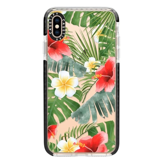 iPhone XS Max Cases - tropical vibe (transparent)
